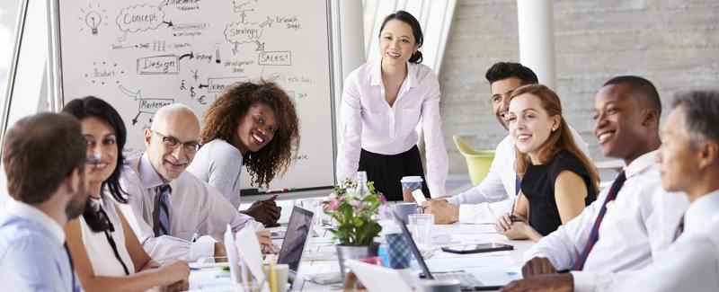 Imagen de una reunión de ejecutivos