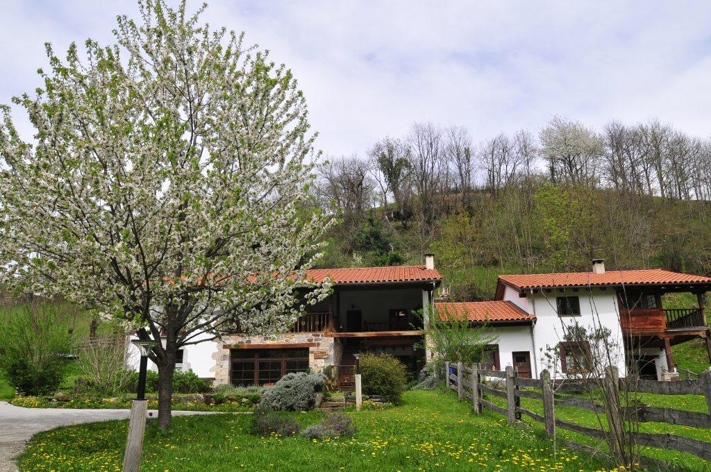 Imagen del hotel Los Riegos en plena primavera