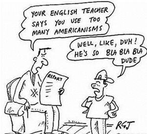 Ilustración de un chiste en inglés