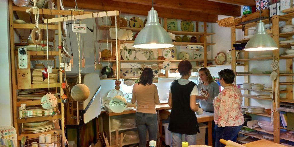 Fotografía del taller de ceramica