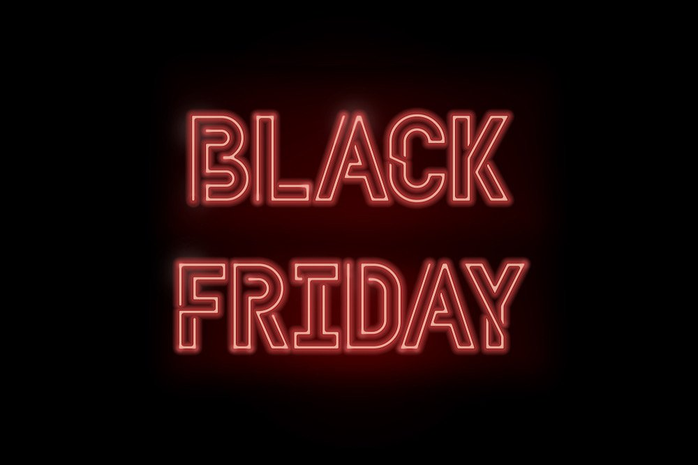 letras neon Black Friday